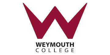 Weymouth College's logo takes you to their list of jobs
